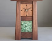 Arts & Crafts Walnut Clock with Motawi Celtic Tile