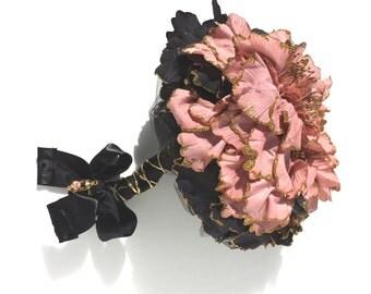Bridal Bouquet,  Wedding Bouquet, Altered Bouquet, Black Tie Bouquet, Goth Bouquet -  by FairyLace Designs