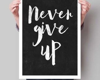 Distressed Wisdom Inspirational Print Office Decor Motivational Quote Typography Art Home Decor Typographic Print