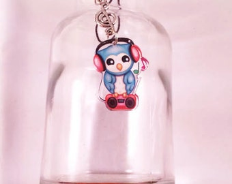 Music Owl Cell Phone Charm