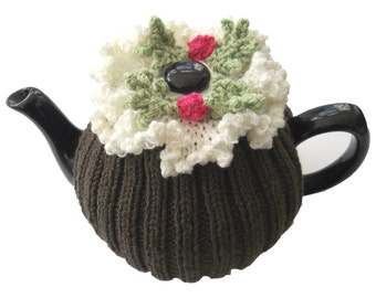 Hand Knitted Tea Cosy Patterns : Tea Rose Tea Cosy Hand Knitting Pattern. by TheDesignStudioKnits