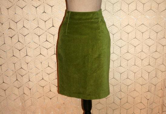 lime green skirt velvet skirt high waist midi by magpieandotis