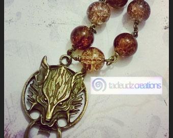 Final Fantasy Inspired Fenrir Beaded Necklace