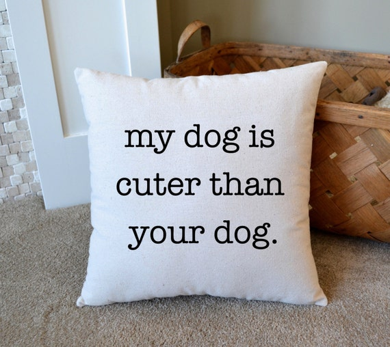 Canvas Pillow Gift for Pet Lover Home Decor Dog by NanaNewHandmade