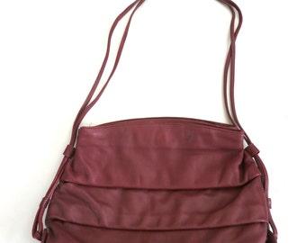 Vintage Lesac Oxblood Leather Purse
