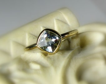 "25% OFF Moissanite 14k White Gold, ""Forever Brilliant"", Engagement Ring, Made to Order"