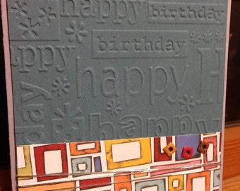 Masculine Handmade Birthday Card