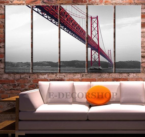 large wall art san francisco golden gate bridge by. Black Bedroom Furniture Sets. Home Design Ideas