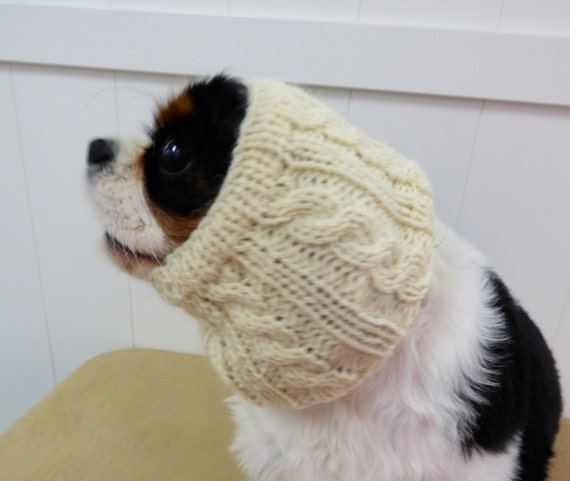 Knitting Pattern Dog Snood : 100% wool Hand Knitted dog snood/ Winter dog by WoofCoutureInt