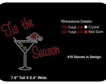 Rhinestone Transfer Template Pattern Stencil Christmas - Santa - Holiday  Girl's t-shirt Bling - DIY - Download