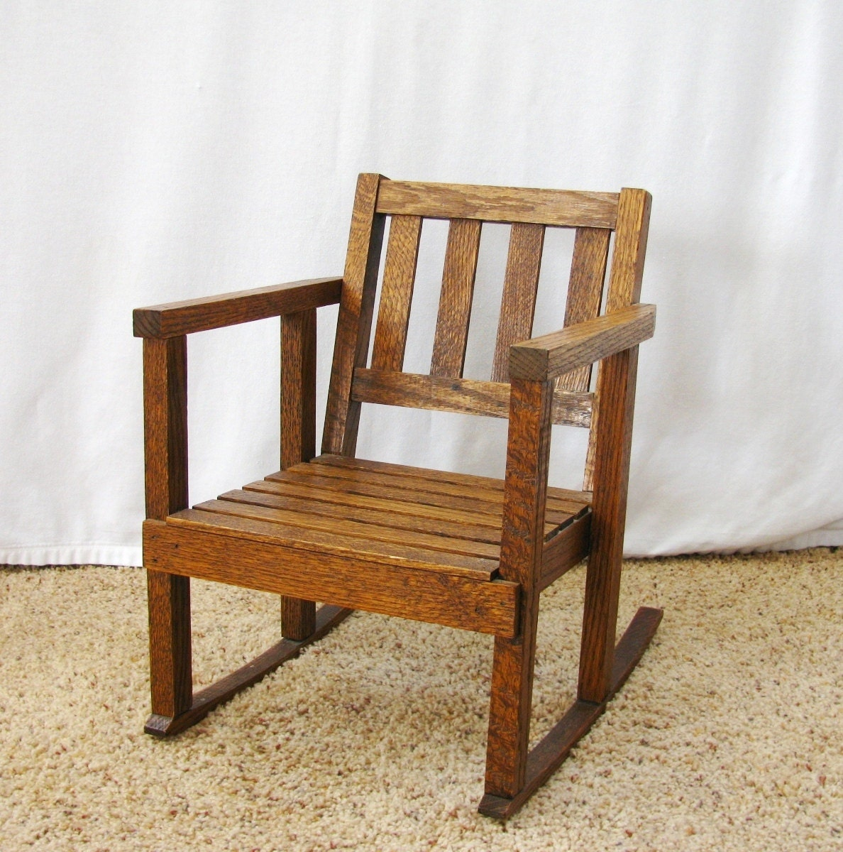 Vintage child s rocking chair mission style