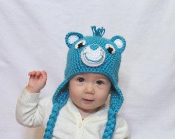 Care Bear Hat, Choose the Color, Newborn Care Bear Hat, Toddler Care Bear - il_340x270.703276237_oxv1