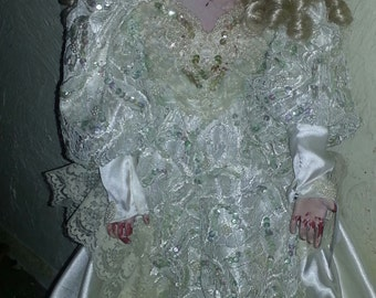 Ooak 26 inch corpse bride doll.