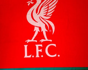 "Liverpool Football Club LFC PANEL Fabric - L87""xW56"" inches - Polycotton"