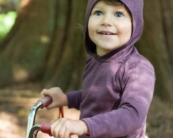 Wizard Hoodie - Merino wool baby hoodie with cute pointed hood