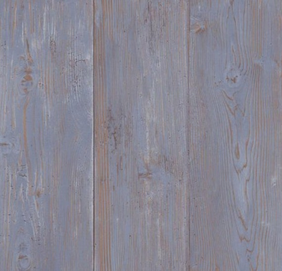blue weathered barnwood boards wallpaper aged chipped