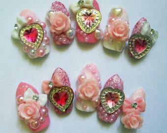 "3D deco nails- ""Cupcake Girl"""