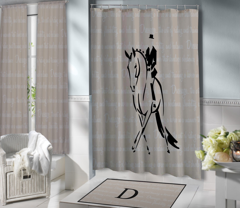 dressage shower curtain extra long horse shower curtain