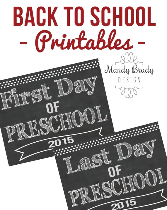 It is a graphic of Decisive Last Day of Preschool Printable