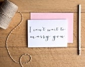 I cant wait to marry you - wedding day card - wedding card to groom - bride wedding card - love note