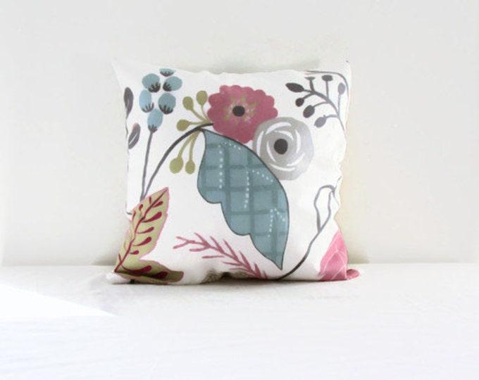 Pastel cushion cover, British designer Clarke & Clarke, handmade in the UK