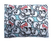 REFILLABLE HOT PACK, Cold Pack/Heat Pack/Heating Pad/Rice Bag/Corn Bag/Rice Pack/Corn Pack/Microwave Wrap/Rice Heating Pad-Mint Skull Print