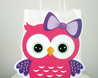 Owl Goody Bags, Owl Favor Bags, Owl Party Bags, Owl Party Favors
