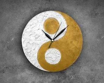 Yin Yang Home Decor, Yin Yang Wall Clock, Modern WALL CLOCK, Zen home decor, Unique wall clock,  feng shui decor,