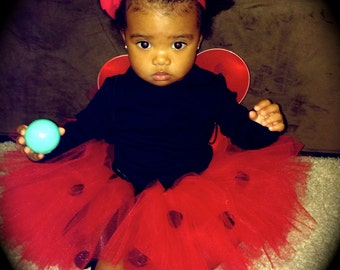 Baby Lady Bug Tutu, Toddler Lady Bug Tutu, Baby/Toddler/Child Tutu, Halloween Tutu