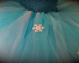 Add Snowflakes To Child Tutu Dress