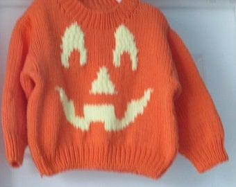 Children's Pullover Sweater; Halloween Sweater; Children's Halloween Sweater;  Round Neck Halloween Sweater; Seasonal sweater