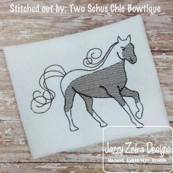 Horse 2 Sketch Embroidery Design - farm Sketch Embroidery Design - horse Sketch Embroidery Design - pony Sketch Embroidery Design - mustang