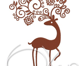 MACHINE EMBROIDERY FILE - Christmas deer