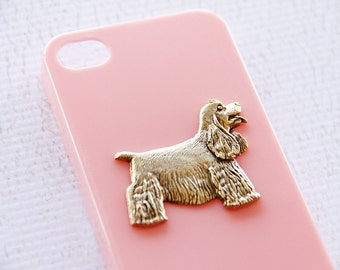 Spaniel iPhone 7  Gold Git Pink Hard Cover Cell Phone iPhone 6 Case iPhone 7 Case iPhone 7 Plus Case
