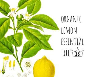 Organic Lemon Essential Oil - Pure Essential Oils - Organic Essential Oil - Aromatherapy - All Purpose Cleaner - Lemon Oil