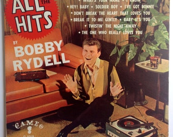 Bobby Rydell - All The Hits LP Vinyl Record Album, Cameo - C-1019, Pop, Compilation, 1962, Original Pressing