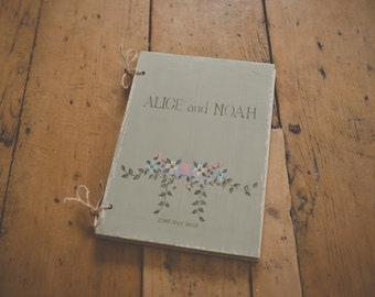 Customised Hand Painted Wedding Guest Book