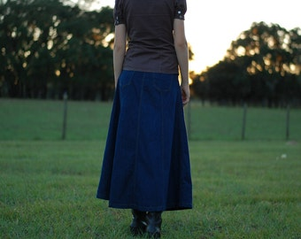 Girls Dark Denim Custom Jean Skirt {Sizes 8, 10, 12, and 14.}