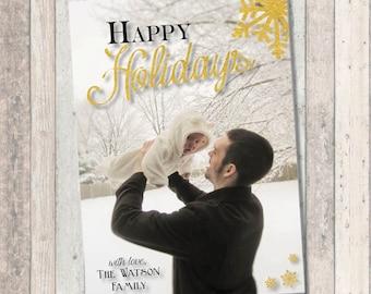 Happy Holidays Christmas Holiday Photo Card - Happy Holidays