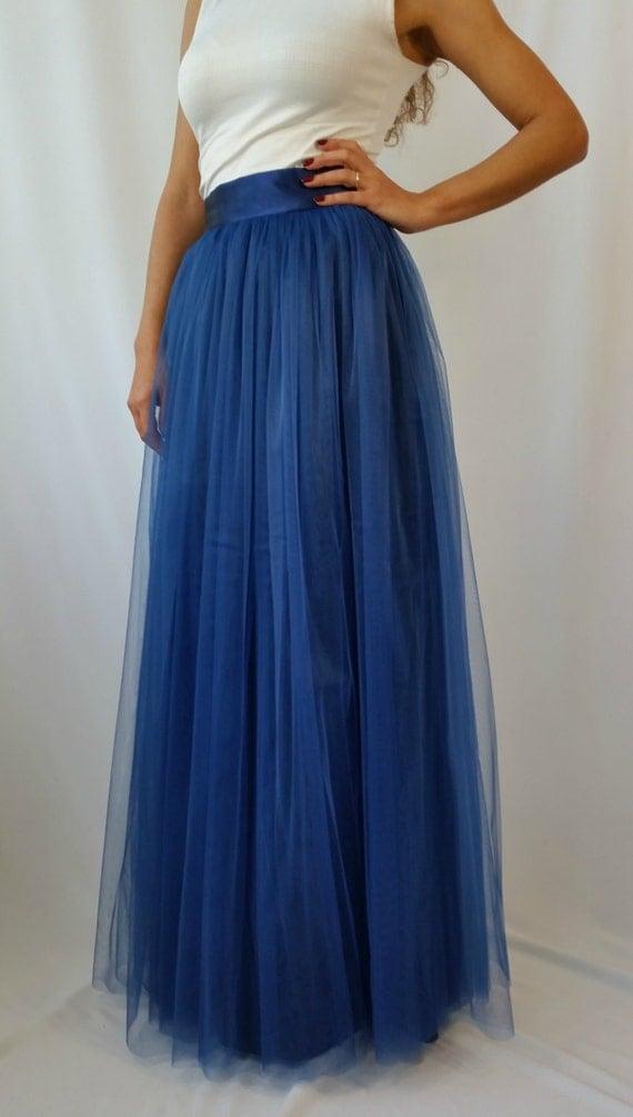 navy blue tulle skirt tutu skirt maxi princess