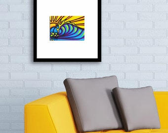 Framed Graffiti Surf Art Print