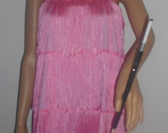 New adult large / plus size pink 1920's flapper costume dress costumes