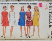 Butterick 5084 //  women's one piece dress or jumper // vintage plus size pattern