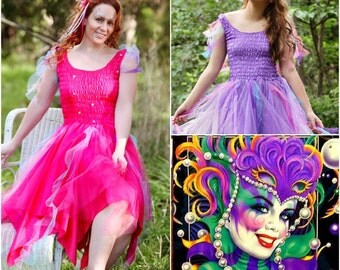 Adult Halloween  Fairy Plus Size Costume ~ Mardi Gras ~  Halloween Carnival Dress ~ Theatre ~ BoHo ~Festival ~ Cosplay ~ Renaissance Costume