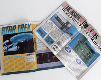 Vintage Set of 2 Nintendo Power Magazines, Missing Front Covers, Volumes 22 and 29, Metroid Star Trek Papercraft