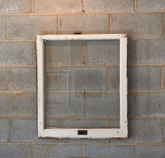 Vintage 1 Pane Window Frame 28 X 32 White Rustic Antique