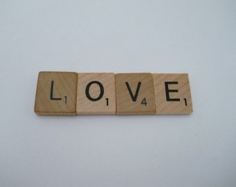 Magnetic Love, Love  Word, Romantic, Love Reminder, Scrabble Word, Love Plaque,, Love Letter, Fridge Magnet, Magnet, Love Magnet