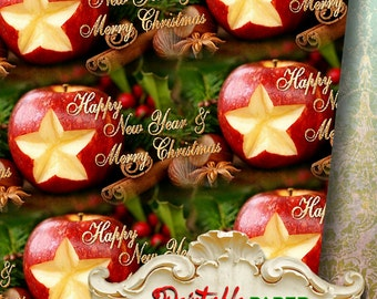 FRAGRANCE CHRISTMAS - Printable wrapping paper for Scrapbooking, Creat - Download and Print