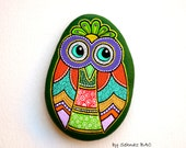 Reserved for I.K. * Hand Painted Stone Owl