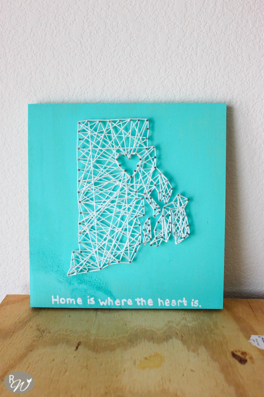 Nail Art Ideas state nail string art : Home is where the Heart is string art State String Art